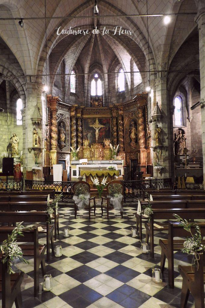 La superbe église de Pomérols
