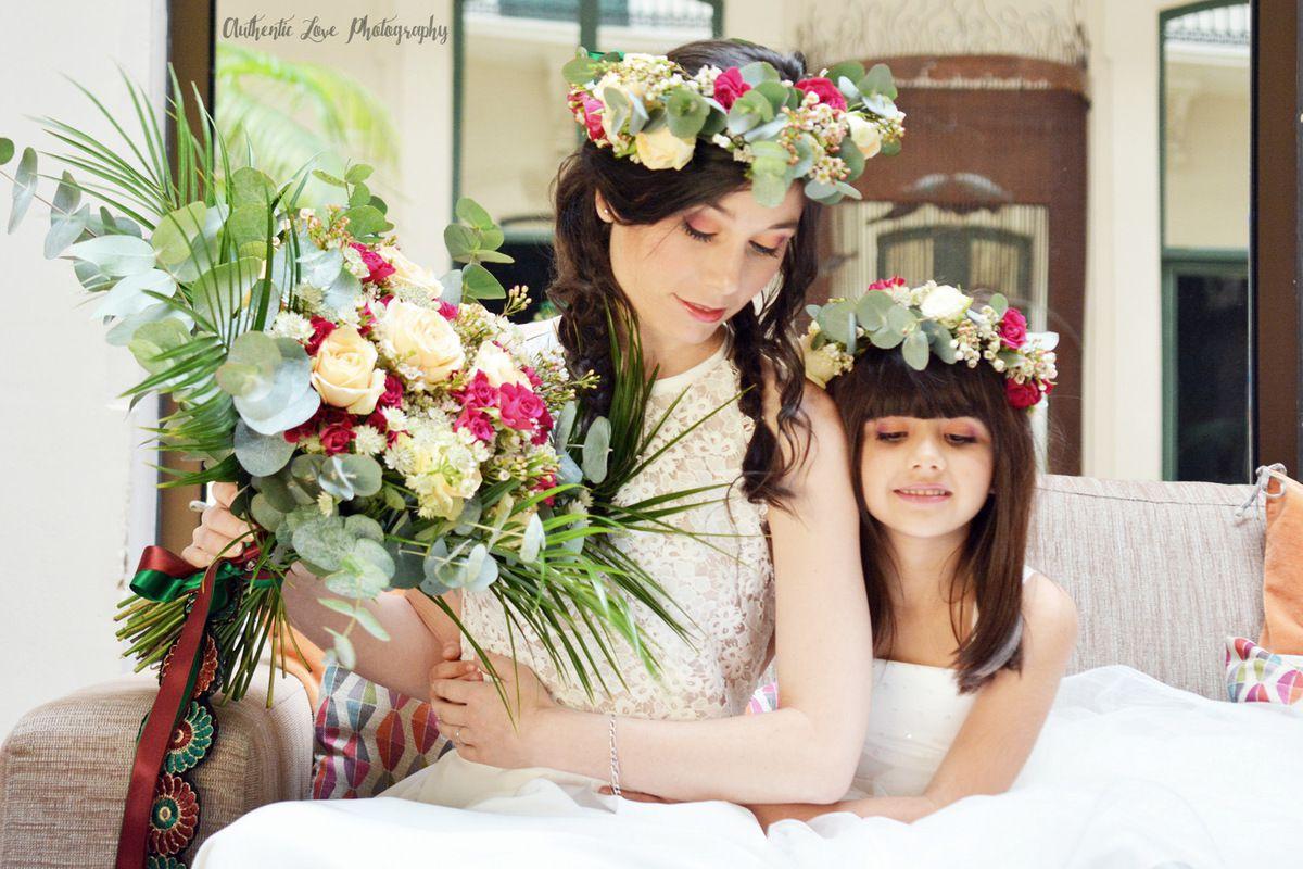 Couronnes de fleurs et accessoires mariage à Sète