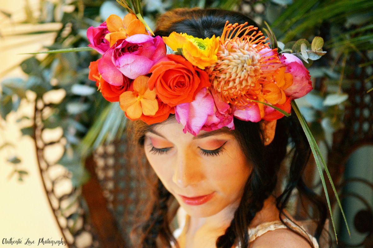 Couronnes de fleurs et accessoires mariage s te for Couronne de fleurs