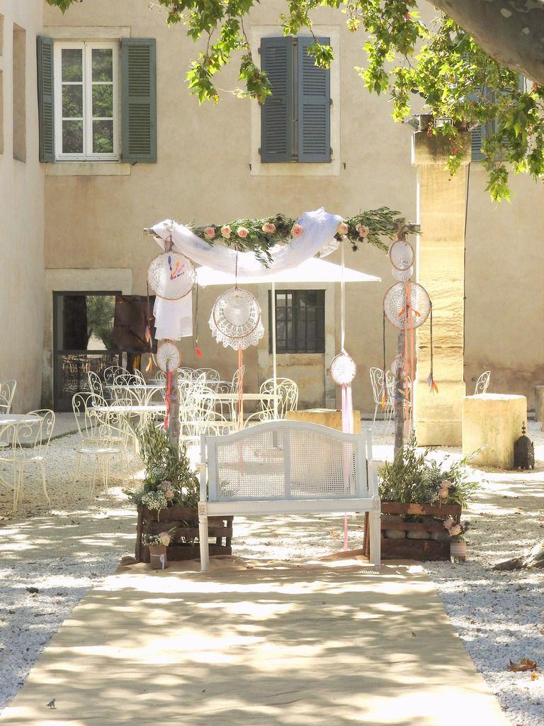 Mariage Bohème au Mas Merlet | Fleuriste mariage bohème Nîmes