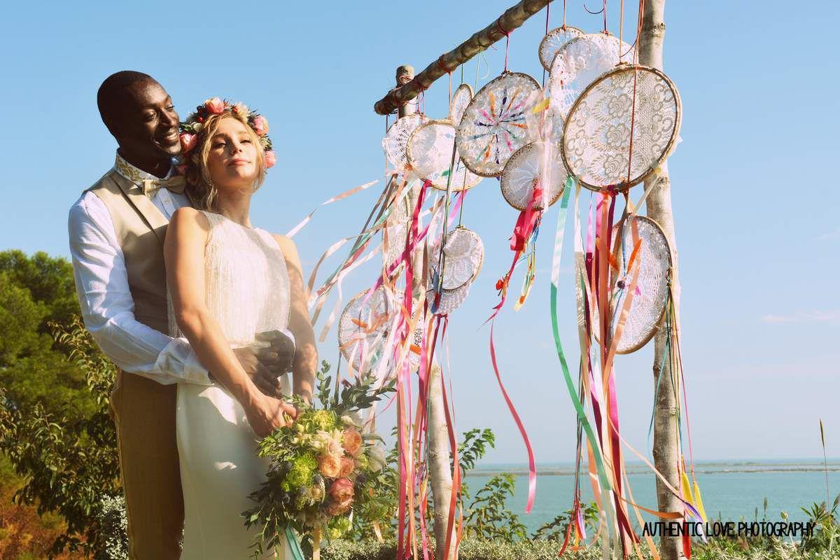 Mariage bohème au Domaine des Moures