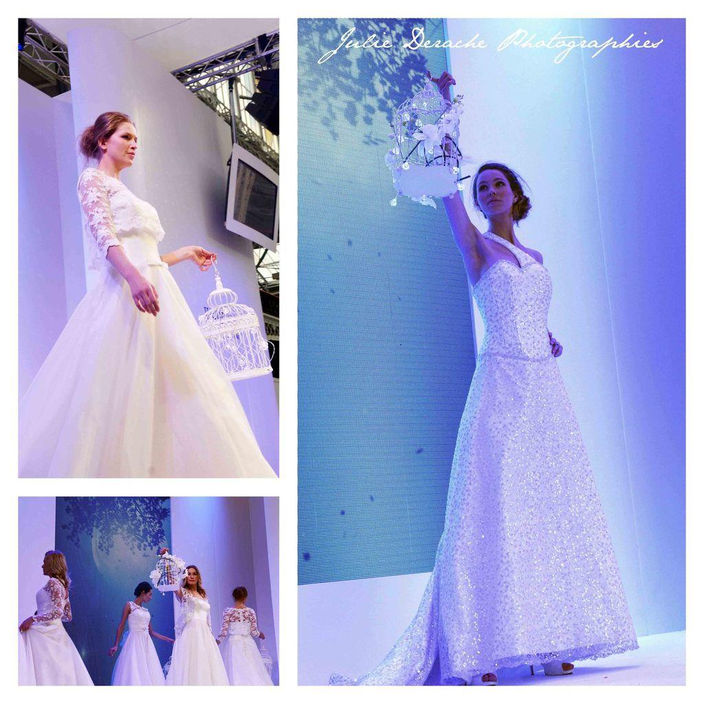 The catwalk, défilé de robes de mariées