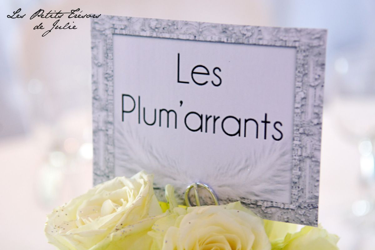 Noms de table Chic en argent