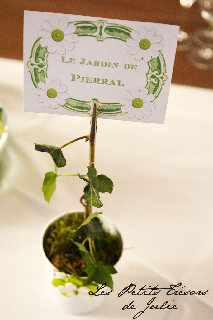 Noms de table Garden Chic