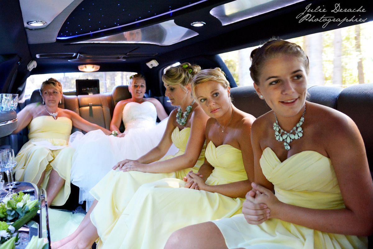 En limousine, direction la mairie d'Aubenas !