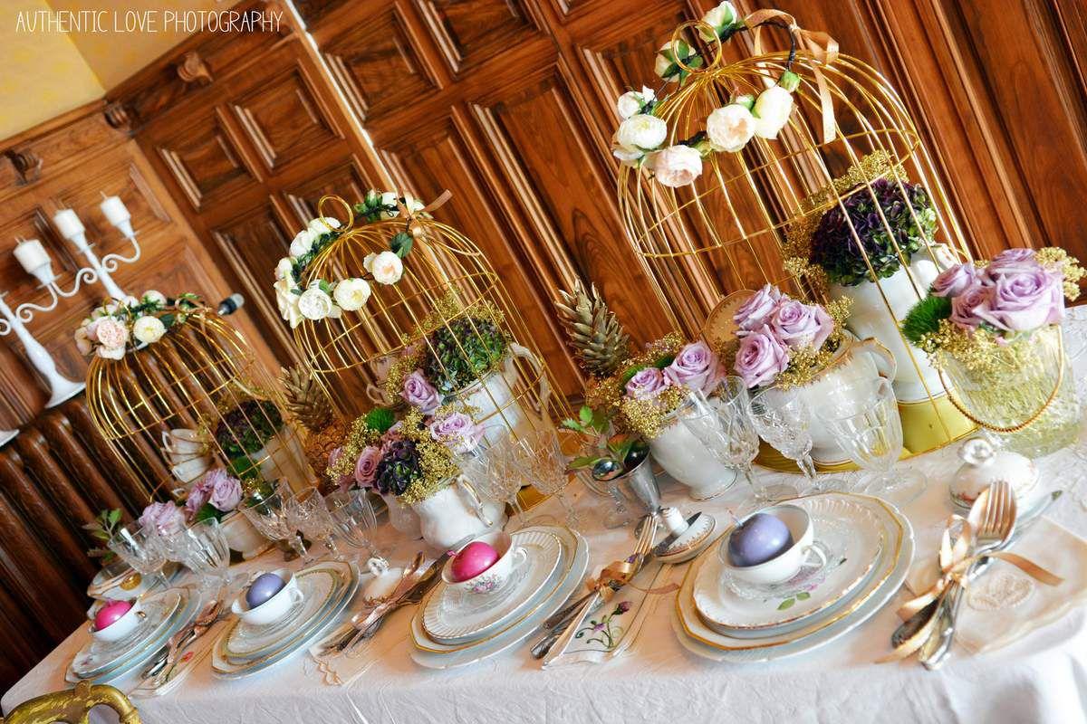 La magnifique décoration et mise de table de Couturière de la Fleur - Miam les macarons et les patiences d'Emilie !