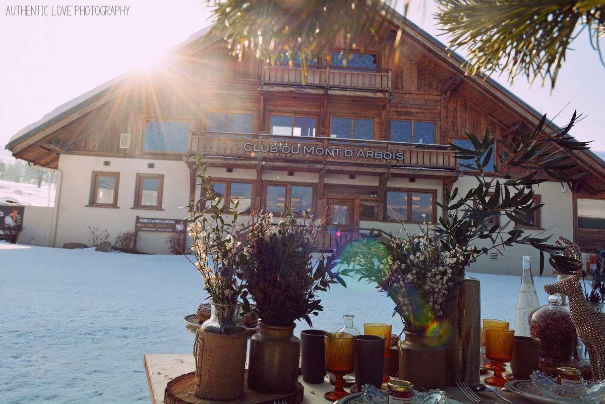 Mariage en hiver bohème | Mariage au Mont d'Arbois | Mariage à Megève