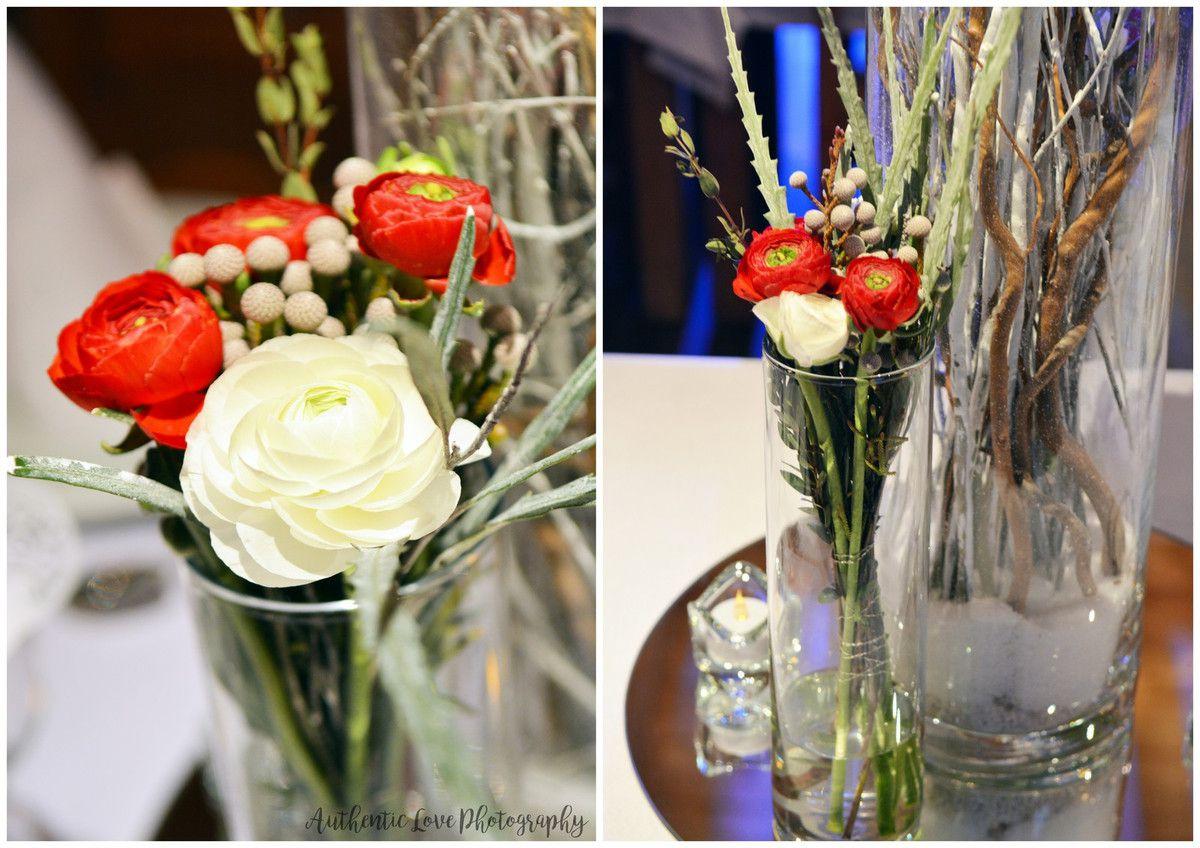 Une belle décoration de mariage en hiver, nature by Couturière de la Fleur