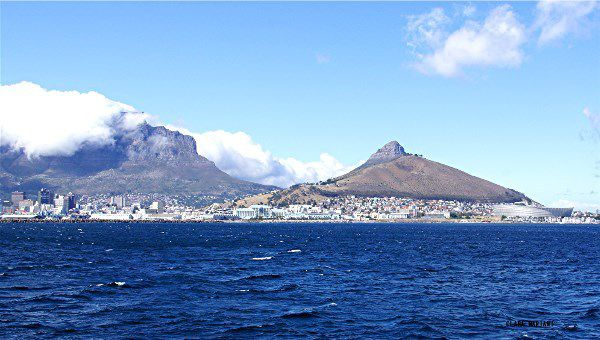 Le Cap, Table Mountain et Signal Hill.
