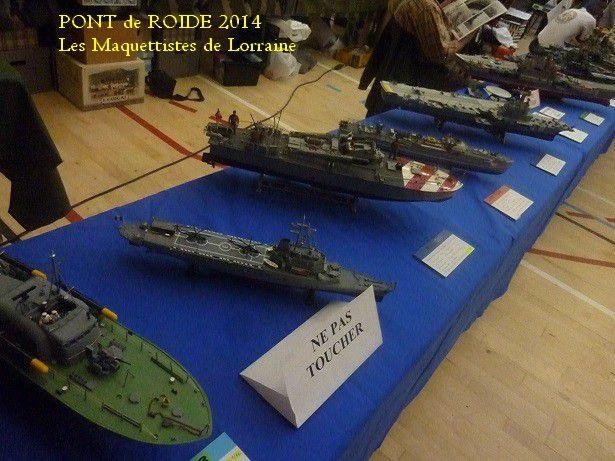 EXPOSITION - PONT DE ROIDE - 2014 - BATEAUX -AVIONS - TRAINS  -