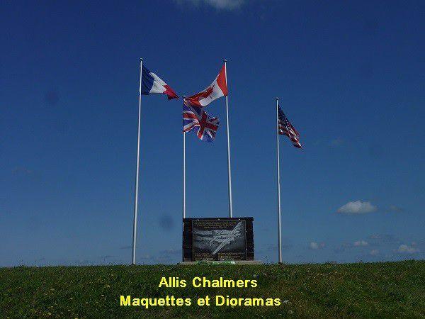 Stele de la Plage de  Paluel en Normandie
