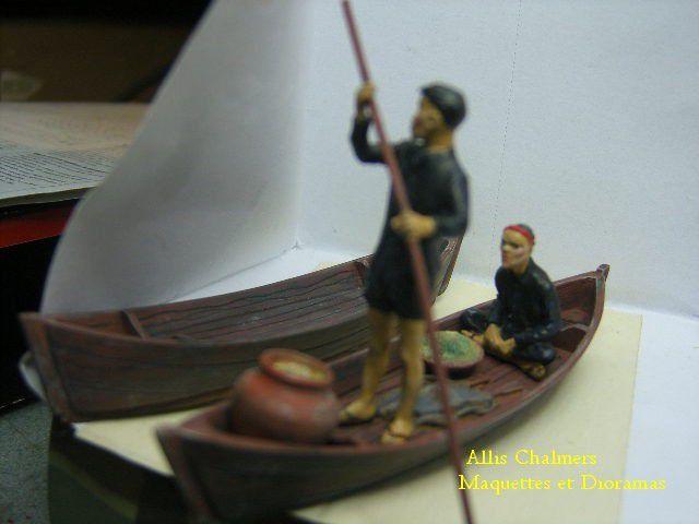 Barque et vietcongs au 1/35