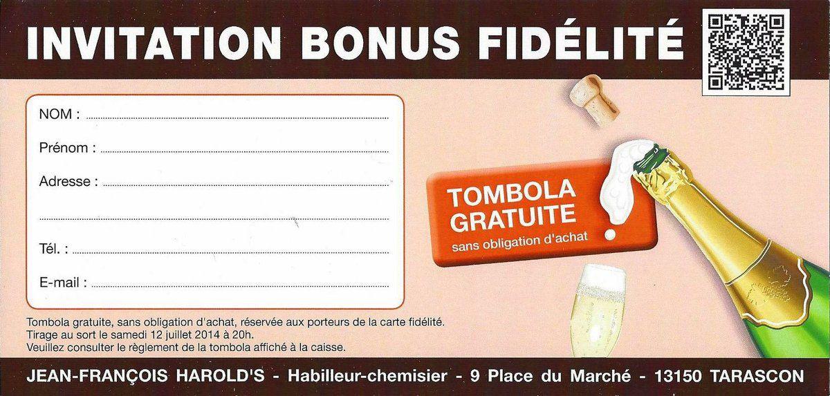 Gagnez une bouteille de Champagne avec notre TOMBOLA !