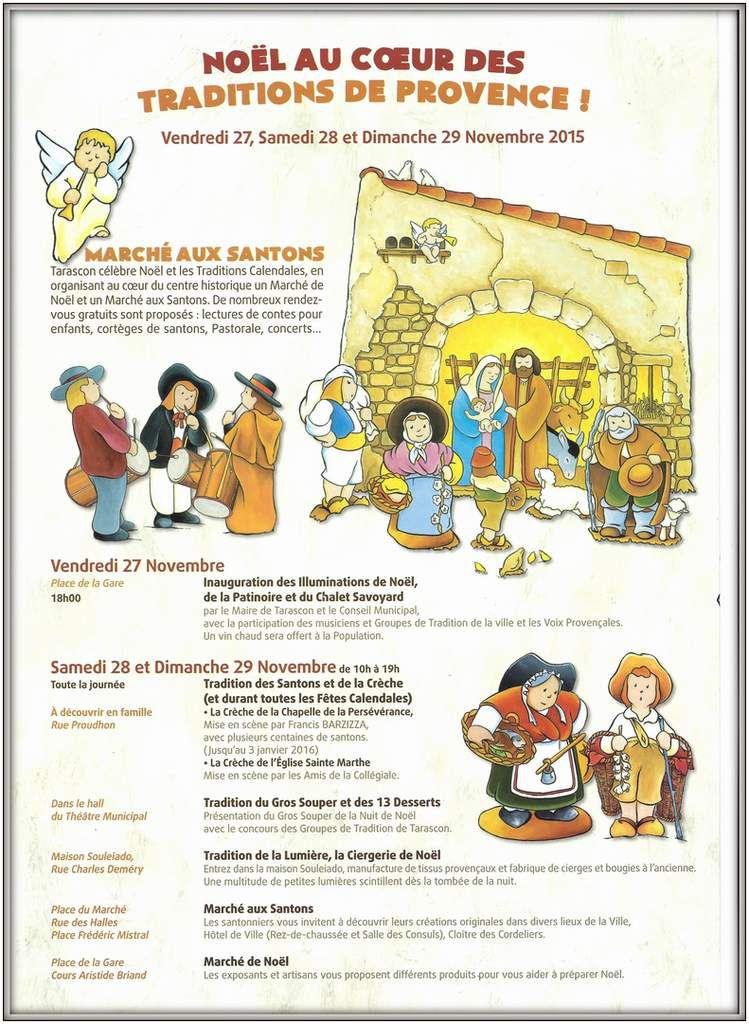 Tarascon est réputé comme l'un des plus beaux et plus gros Marché aux Santons de Provence