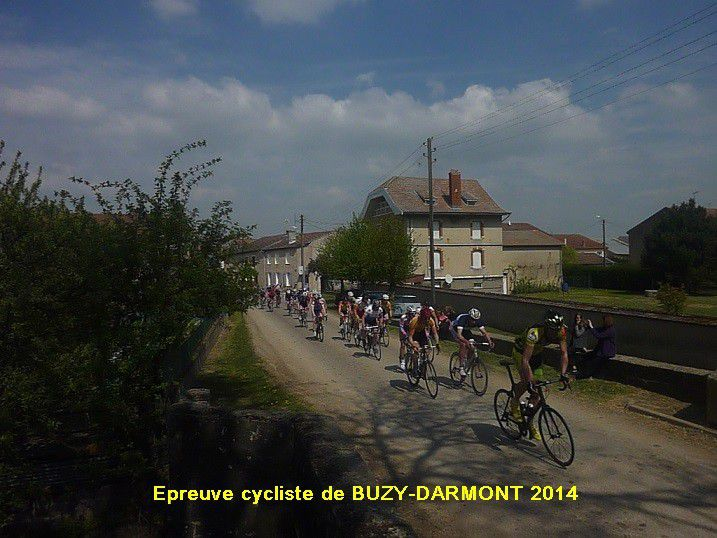 Epreuve cycliste de BUZY - DARMONT 2014