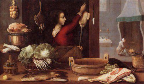 Gestes culinaires et ustensiles de cuisine dans la peinture des XVIIe et XVIIIe siècles ou le travestissement d'une réalité quotidienne