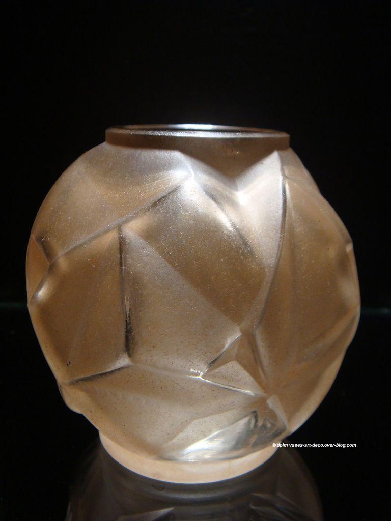 Vase Hunebelle modèle Feuilles patiné sépia