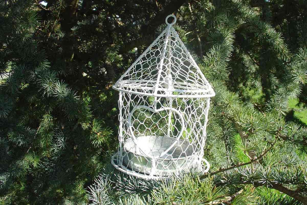 Cages oiseaux photophores le grenier de la presqu 39 le for Cages a oiseaux decoratives