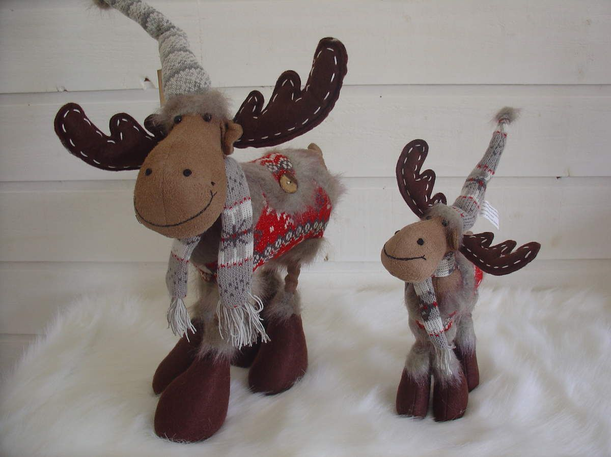Caribou En Bois Decoration