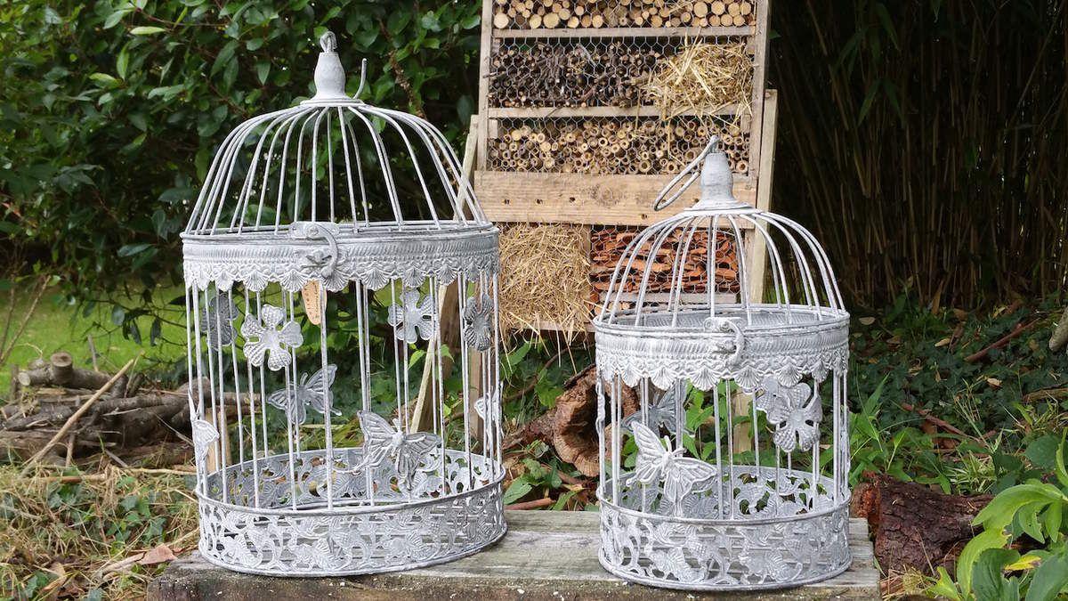 les cages oiseau d coratives pour d co de mariage le grenier de la presqu 39 le. Black Bedroom Furniture Sets. Home Design Ideas