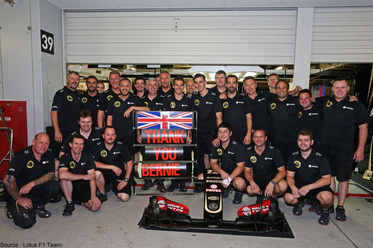 Lotus - Les mécaniciens de Lotus doivent leur déjeuner à Bernie Ecclestone
