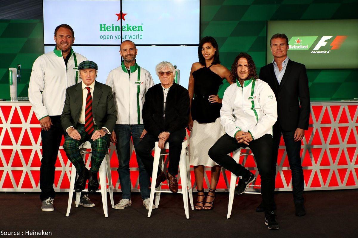 La F1 devient le 4ème pilier de la communication d'Heineken