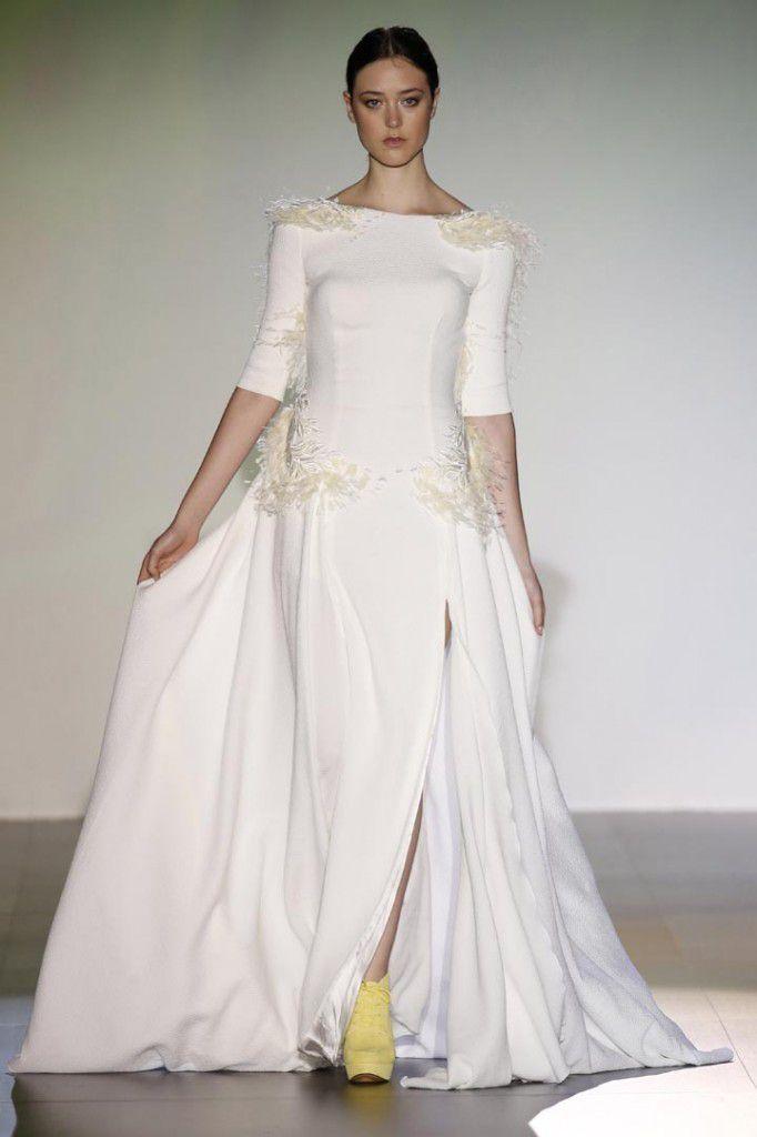 weeding,robe,blanche,espagne,isabel,mode،fashion,2015,femme,women,haute couture,زفاف،فساتين،أزياء،عرب،مغرب،اسبانيا،مريام