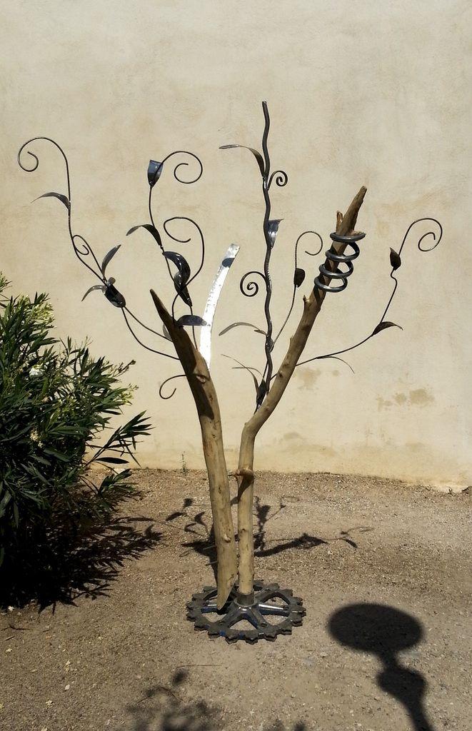 Sculpture Métal Arbre de Vie