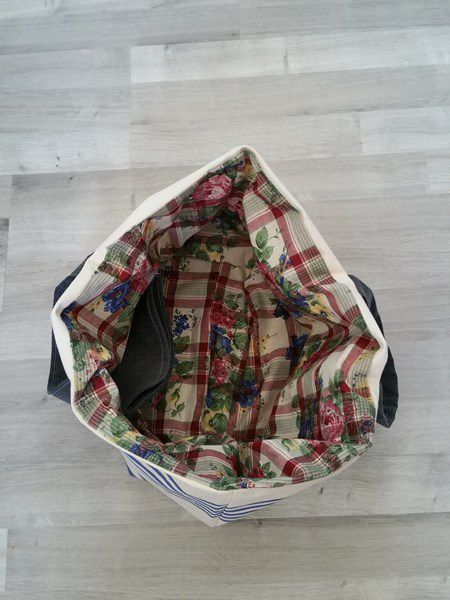 Couture : Sac cabas - total recyclage