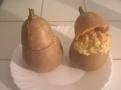 Recettes des régions : Butternut farci au poisson, riz et lait de coco
