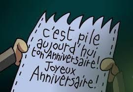 Heureux anniversaire !!