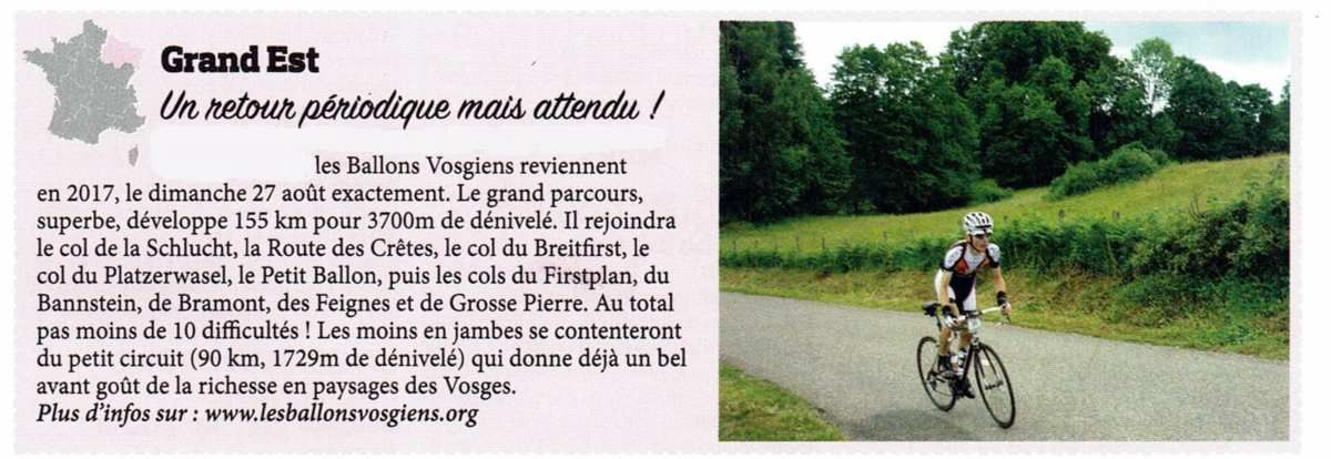 Article du magazine cyclo-sport