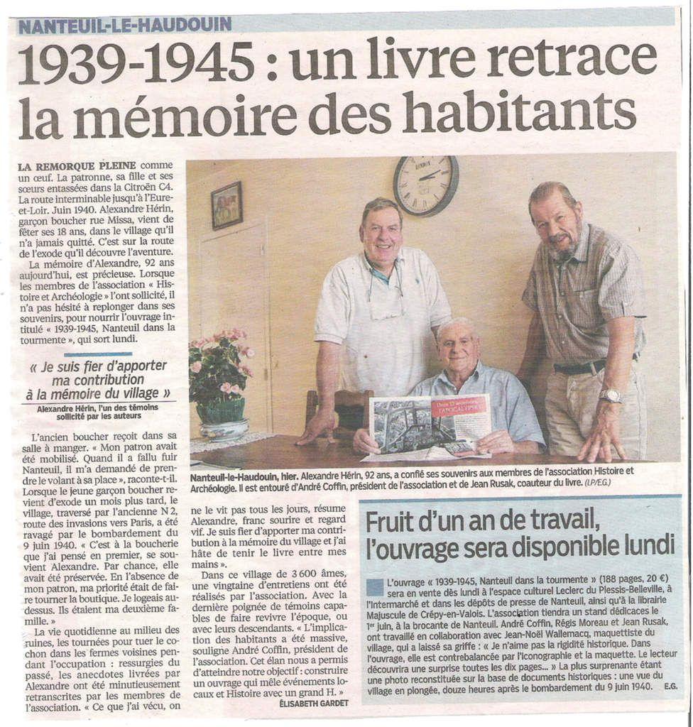 Le Parisien du 21 Mai 2014