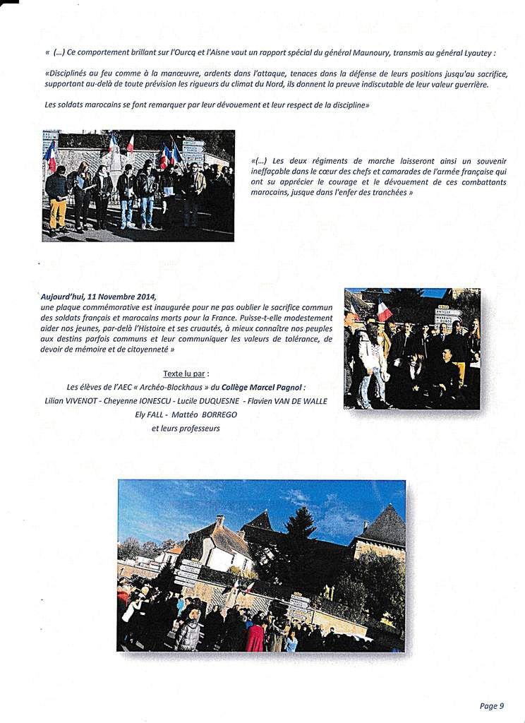 BETZ: 11 Novembre 2014- HOMMAGE AUX SOLDATS MAROCAINS