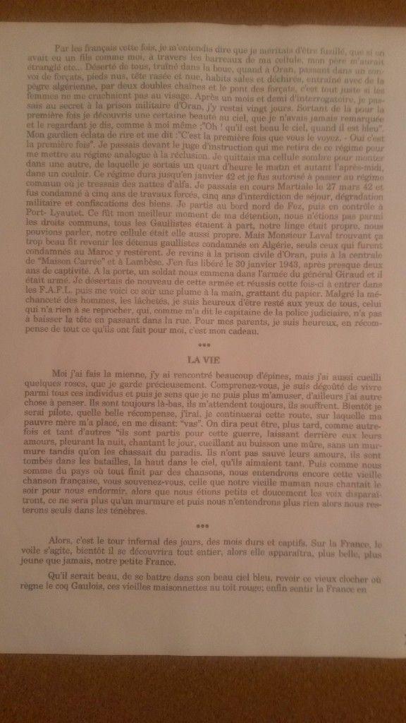Romain rend hommage à son ancêtre&#x3B; Jean TRONQUOY (1921-1945)