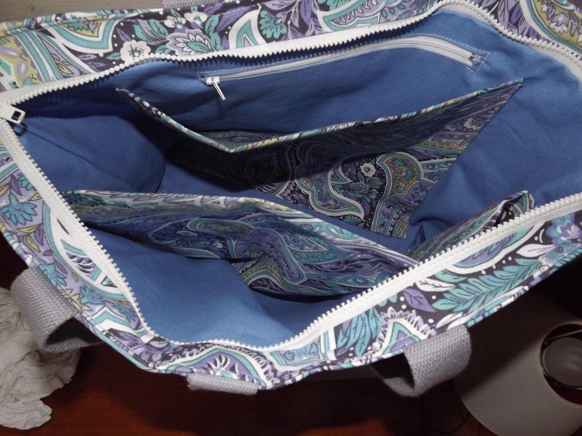 grand sac &quot&#x3B;cachemire&#x3B;turquoise/violet/blanc&quot&#x3B;