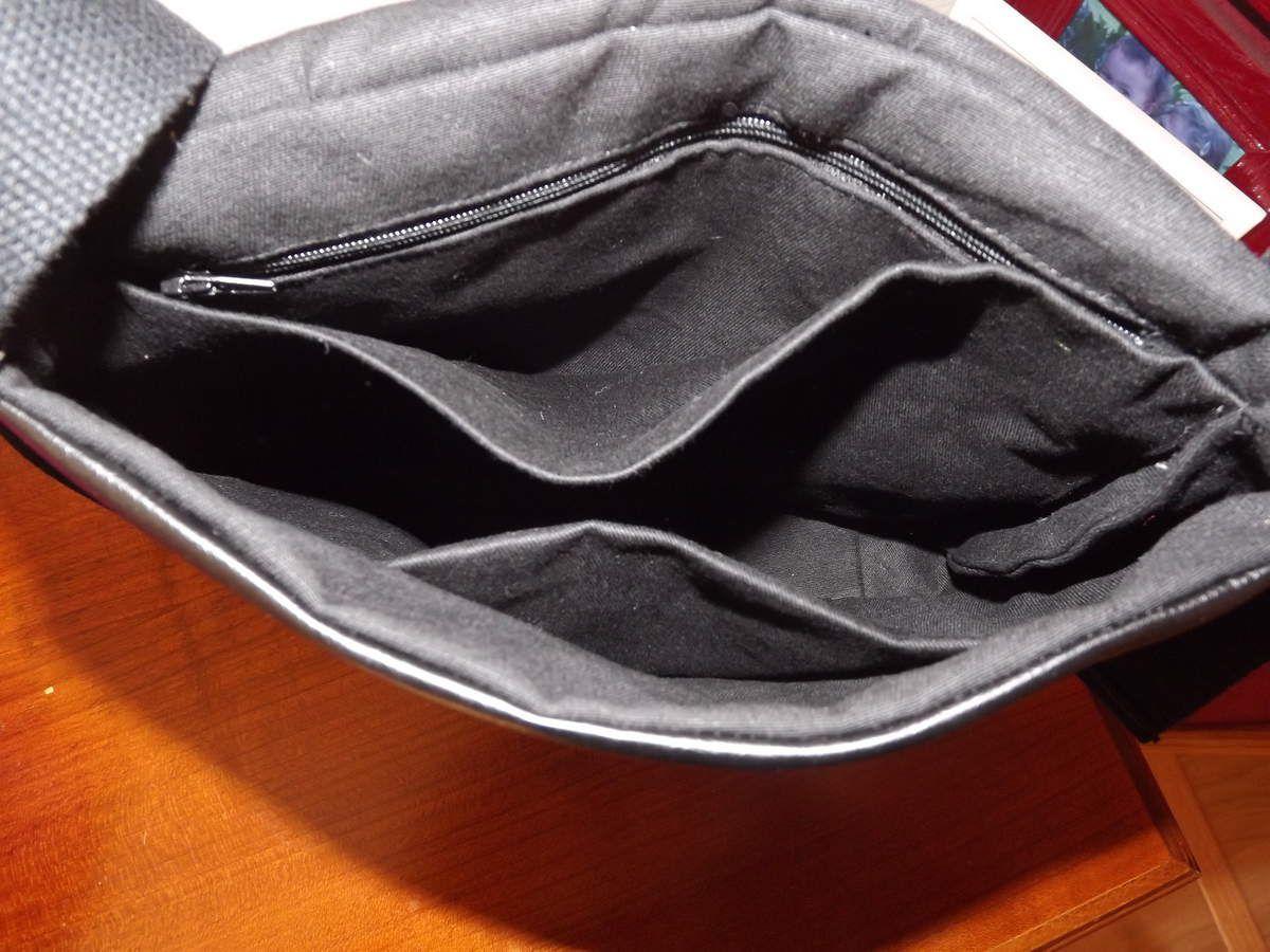 sac en skaï noir rabat &quot&#x3B;vogue noir et blanc&quot&#x3B;