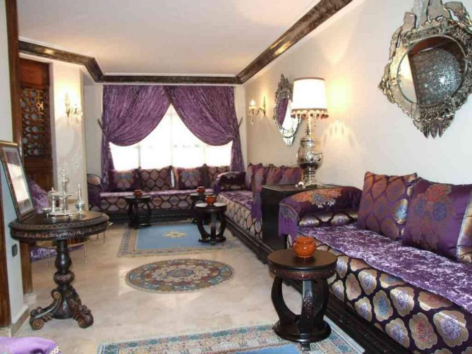 D coration int rieur salon marocain salon marocain for Decoration salon marocain