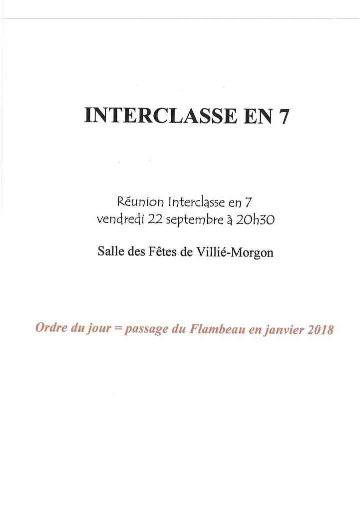Interclasse en 7