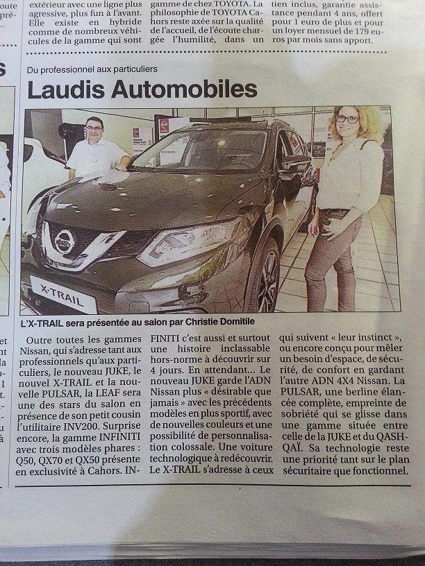 Laudis au salon auto de Cahors octobre 2014
