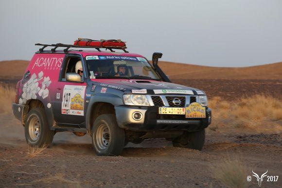 équipage 197 ACANTYS sur nissan patrol, excellente 1 ére journée de course rallye des gazelles