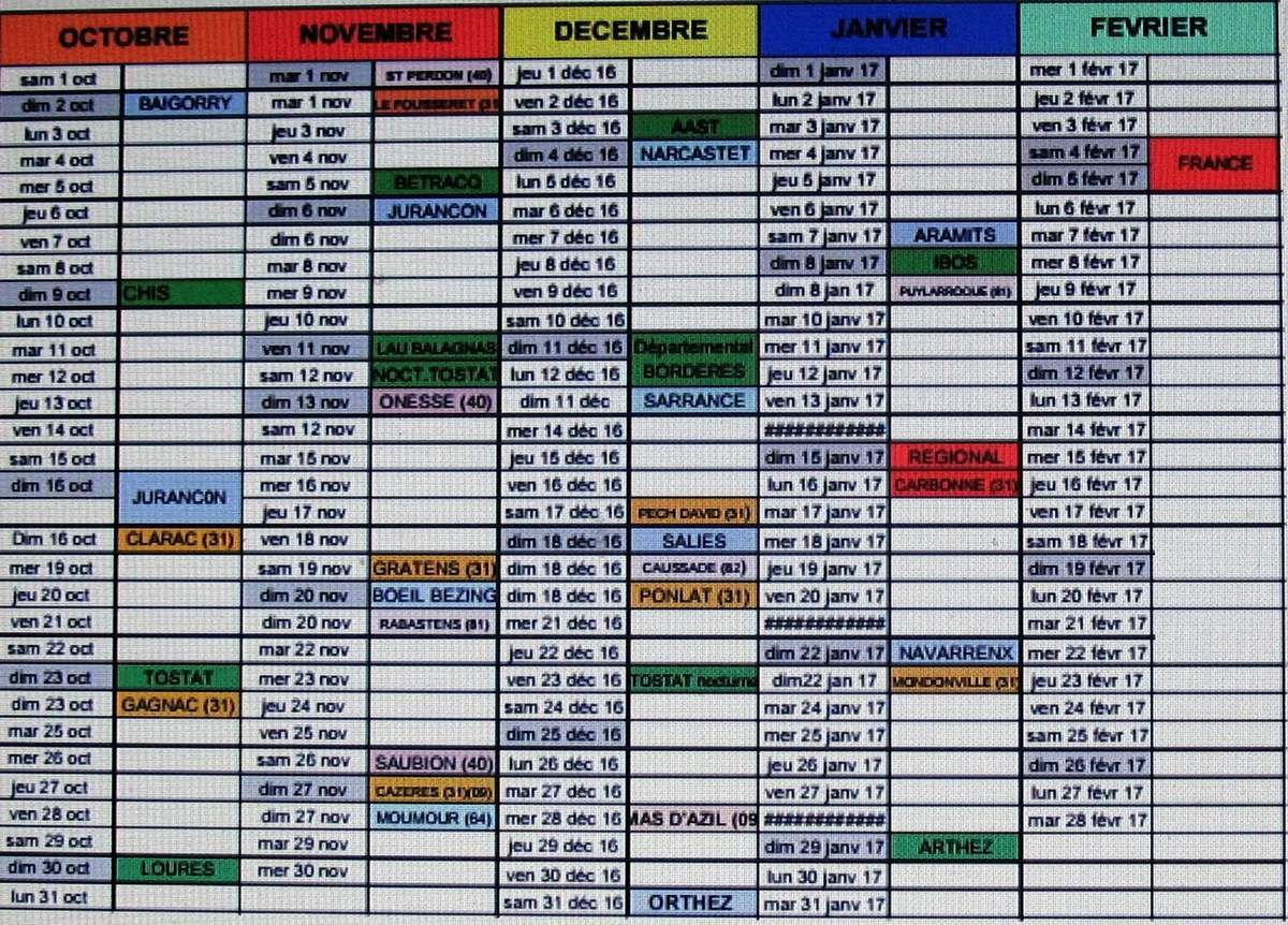 Cyclo Cross Calendrier.Calendrier Cyclo Cross 2016 2017 Jab Cyclisme Competition