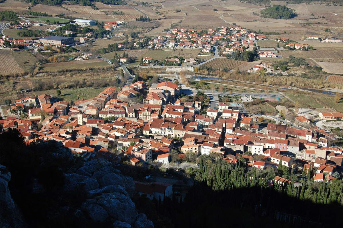 Voici la ville de Tautavel.