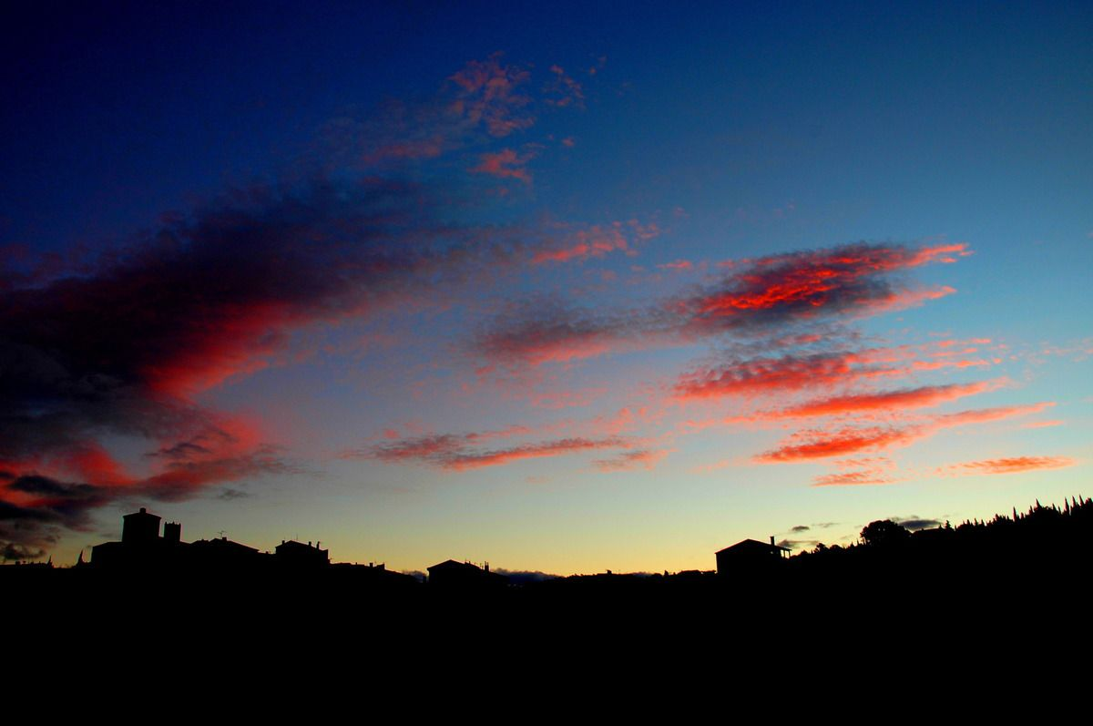 Le ciel de ce matin très joli.