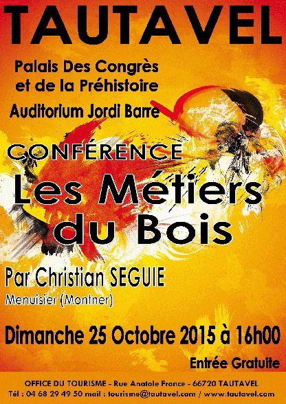 L'affiche de la conférence de Christian Séguié.