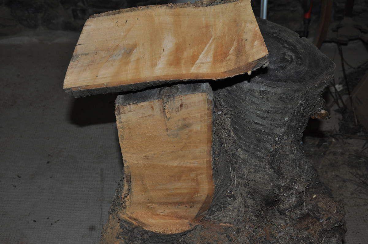 Première tranche pour tester le bois.