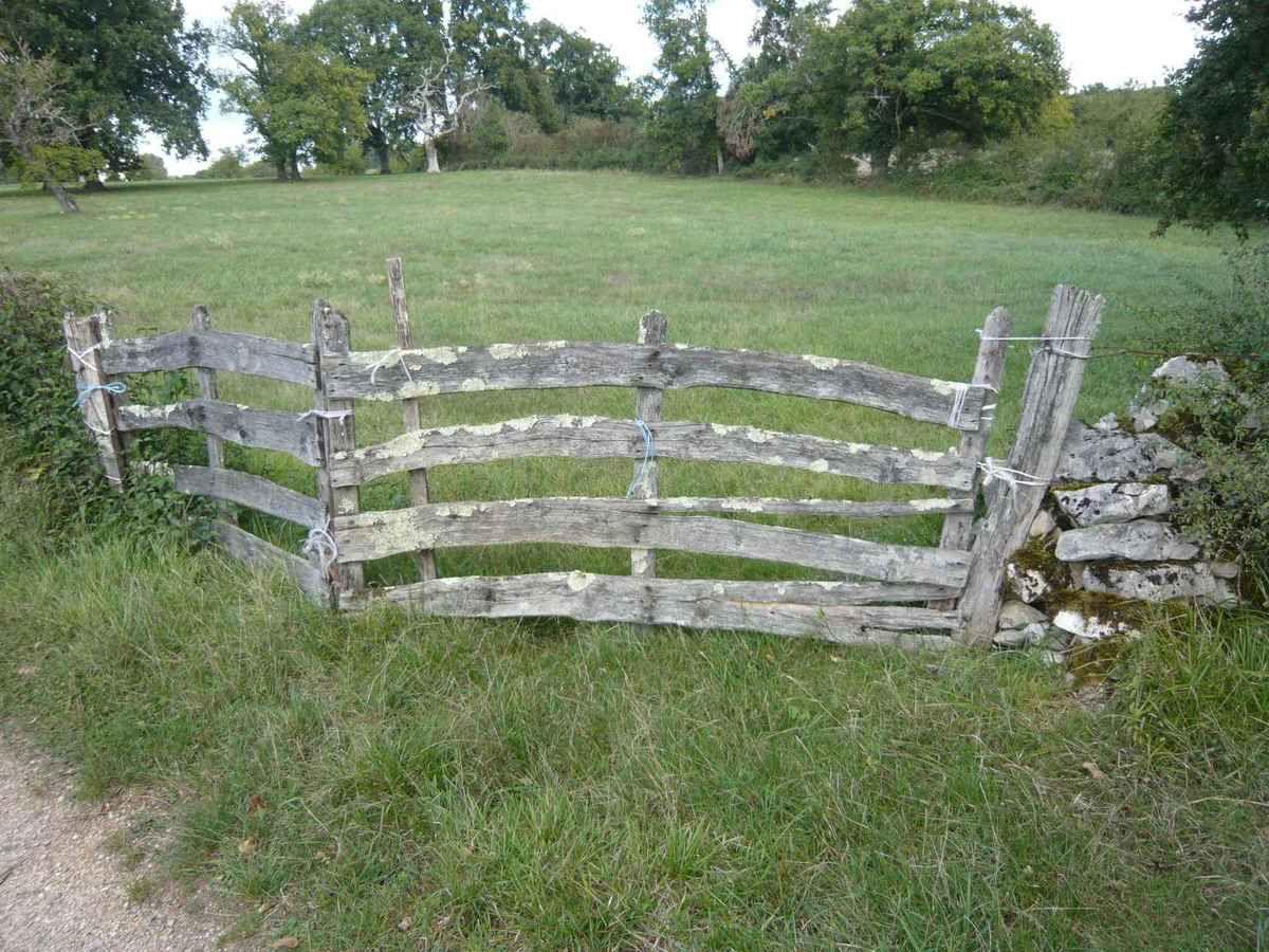 Le charme des vieux portails en bois dans la campagne for Portail en bois pour jardin