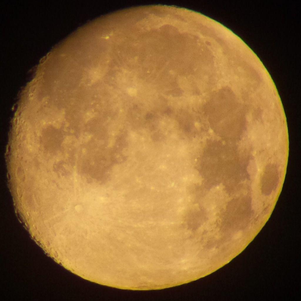 Lune Gibbeuse ascendante du 09/08/2014 - 03:37 AM - Jumelles Astronomiques Orion 20*80