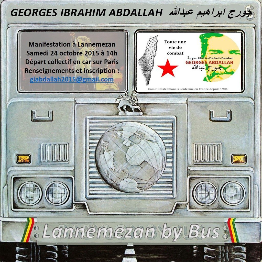 Lannemezan by Bus - Manifestation du 24 octobre 2015 pour Georges Ibrahim Abdallah