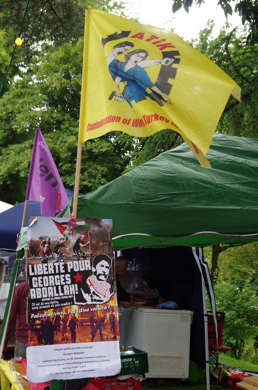 Solidarité internationale - Fête UZ DKP Dortmund - Georges Ibrahim Abdallah (+ vidéo Intervention du FDLP)